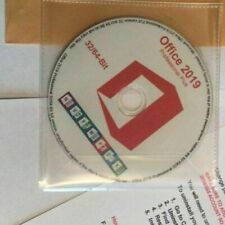 Microsoft Office 2019 CD/DVD Disc English Windows [ 32 & 64 Bit ]