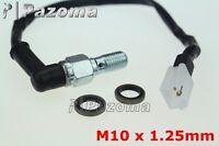 Hydraulic Brake Pressure Light Switch M10x1.25mm Banjo Bolt For CRF XR KLX YZ