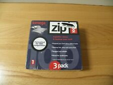 3 Zip Disks Iomega 100 MB IBM PC Storage Media Sealed