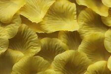 100 x jaune pétale de rose en soie Décoration de table Mariage Confetti