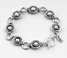 B00622SP SHABLOOL ISRAEL Didae Handcrafted FW Pearl Sterling Silver 925 Bracelet