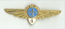 AEROFLOT Soviet Airlines Pilot Wings Badge Class 4