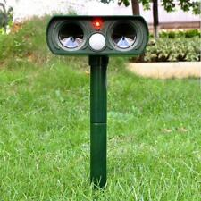 Ultrasonic Solar Power Pest Animal Repeller Repellent Garden Cat Dog Fox Outdoor