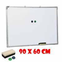 Magnetic White Board - 90cm x 60cm, Stationery, Brand New - Free Duster, Magnets