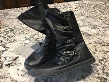 BLOWFISH Black Buckle Short Boot Size 8