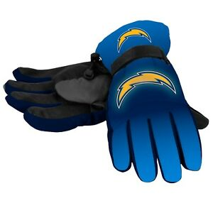 Los Angeles Chargers Gloves Big Logo Gradient Insulated Winter Unisex S/M L/XL