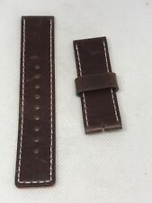 Fossil Band Brown Leather Watch Bracelet Strap no pins 22mm C59