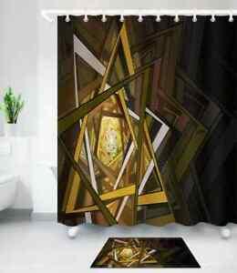 Fancy Ceiling Waterproof Bathroom Polyester Shower Curtain Liner Water Resistant