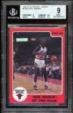 Michael Jordan Rookie Card 1986 Star Rookie of the year BGS 9 (9 9.5 9.5 8.5)
