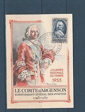 carte  1er jour   journée du timbre   Toulon sur mer    1953