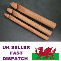 Large Bamboo Crochet Hooks Needles 3 Set  Jumbo Size 15mm 20mm 25mm or Singles