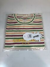 Guess Jeans Sean Wotherspoon Farmers Market Striped T-Shirt Dragon Fruit M