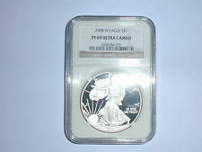 2008-W American Eagle Silver Dollar Coin NGC PF 69 UC