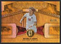 2019-20 Panini Gold Standard Solid Gold AU Parallel #17 Michelle Akers 45/79 USA