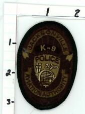 JACKSONVILLE AVIATION AUTHORITY K-9 SUBDUED FLORIDA FL POLICE PATCH SHERIFF