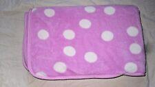 Northpoint Pink White Polka Dot Girls Baby Blanket Fleece Super Soft