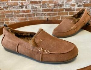 Vionic Brown Suede Corinne Indoor Outdoor Orthodic Slipper Loafer 6 New