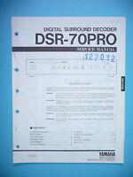 Service Manual-Anleitung für Yamaha DSR-70 Pro,ORIGINAL