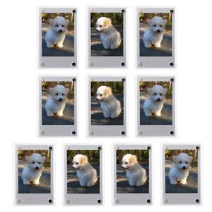 1-10 Pack Magnetic Fridge Photo Frames For Fujifilm Polaroid instax mini film