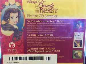 Disney Beauty and the Beast Picture CD Three Song Sampler NEW,SEALED