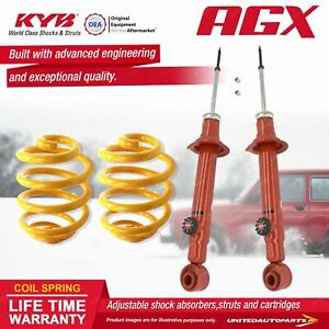 Rear KYB AGX Shock Absorbers Lowered King Springs for NISSAN 180SX S13 Coupe