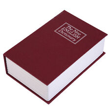 Secret Dictionary Book Safe Jewellery Money Cash Box Security Safety Key Lock