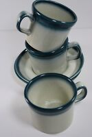 Blue Pacific Wedgwood Oven to Table England Stoneware 3 Cups & 2 Saucers