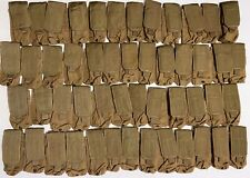 Lot of (50) Allied Industries 7P200 Coyote Brown Pouches - Dom: 03/11
