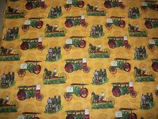 IH~International Harvester ~~Gold Titan~~ Tractor Fabric    18 X 42    Z2