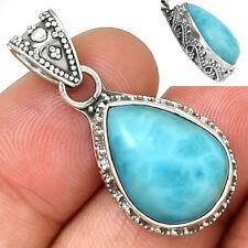 Bali Design - Larimar 925 Sterling Silver Pendant Jewelry AP1418