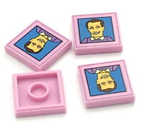 Lego New Red Brick 1 x 2 x 2 KRUSTY O/'s Cereal Box Pattern from The Simpsons