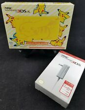 "Nintendo ""New"" 3DS XL Yellow Pokemon Pikachu Edition Console with new charger"