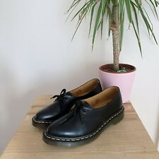 DR MARTENS SIANO BLACK SMOOTH LEATHER POINTED TOE BGOUES 6 39 SHOES FLAT LACE UP