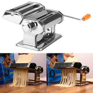 Stainless Steel Pasta Lasagne Spaghetti Tagliatelle Maker Machine Kitchen Tool