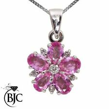 White Gold Sapphire Fine Diamond Necklaces & Pendants