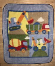 Circo Boys Baby Blanket Construction Vehicles Bulldozer Dump Cement Truck