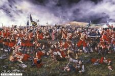 Scottish Art Post Card Jacobite Highladers Battle of Culloden   prince Charlie
