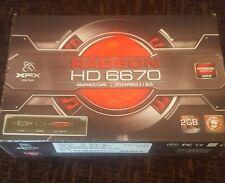 XFX amd radeon hd 6670 graphics card. 2gb DDR3. Comes in original box