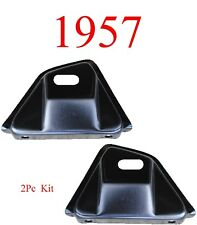 57 Chevy Bel Air 2Pc Front Fender Bumper Bracket Set, 150, 250, 1957, Kit L&R