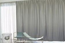 Large Linen Fabric Blockout Curtains 536x230cm PINCH PLEAT 2 panels New+30 Hooks