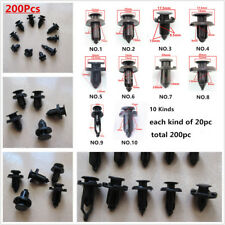 Car mixed Plastic Rivets Trunk Door Bumper Fender Fastener Clip x200Pcs