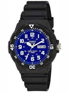 Casio Gents Black Collection 100 Meters MRW-200H-2B2VDF Watch. Blue dial.  VIOT