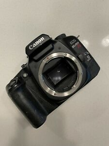 For Parts Canon EOS ELAN 7E Eye-controlled 35mm SLR Camera Body Only Quartz Date