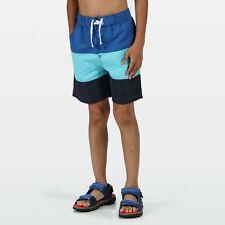 Regatta Kids Shaul III Recycled Mesh Lined Swim Shorts - Blue Washed Azure