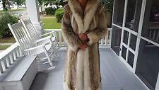 Vintage Estate Coyote Fox Fur Coat Full Length