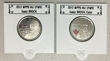 CANADA 2012 New 2 x 25 cent Isaac Brock NO COLOR and COLOR (BU From roll)
