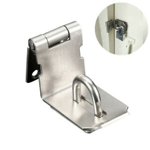 Hasp And Staple Gate Door Shed For Padlock Latch Lock Home Garden 90 Degrees