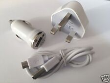 Red plug+car charger+micro Usb Cable De Plomo Para Samsung Galaxy S3 S4 Ace Note2