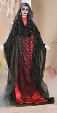 HALLOWEEN LIFE SIZE GYPSY WOMAN FLASHING EYES PROP DECORATION HAUNTED HOUSE
