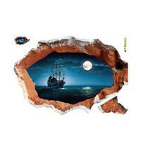 Home 3D Marine Corsair Creative Home Wall Stickers  Environmentally Wall Sticker